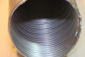 clean aluminium duct